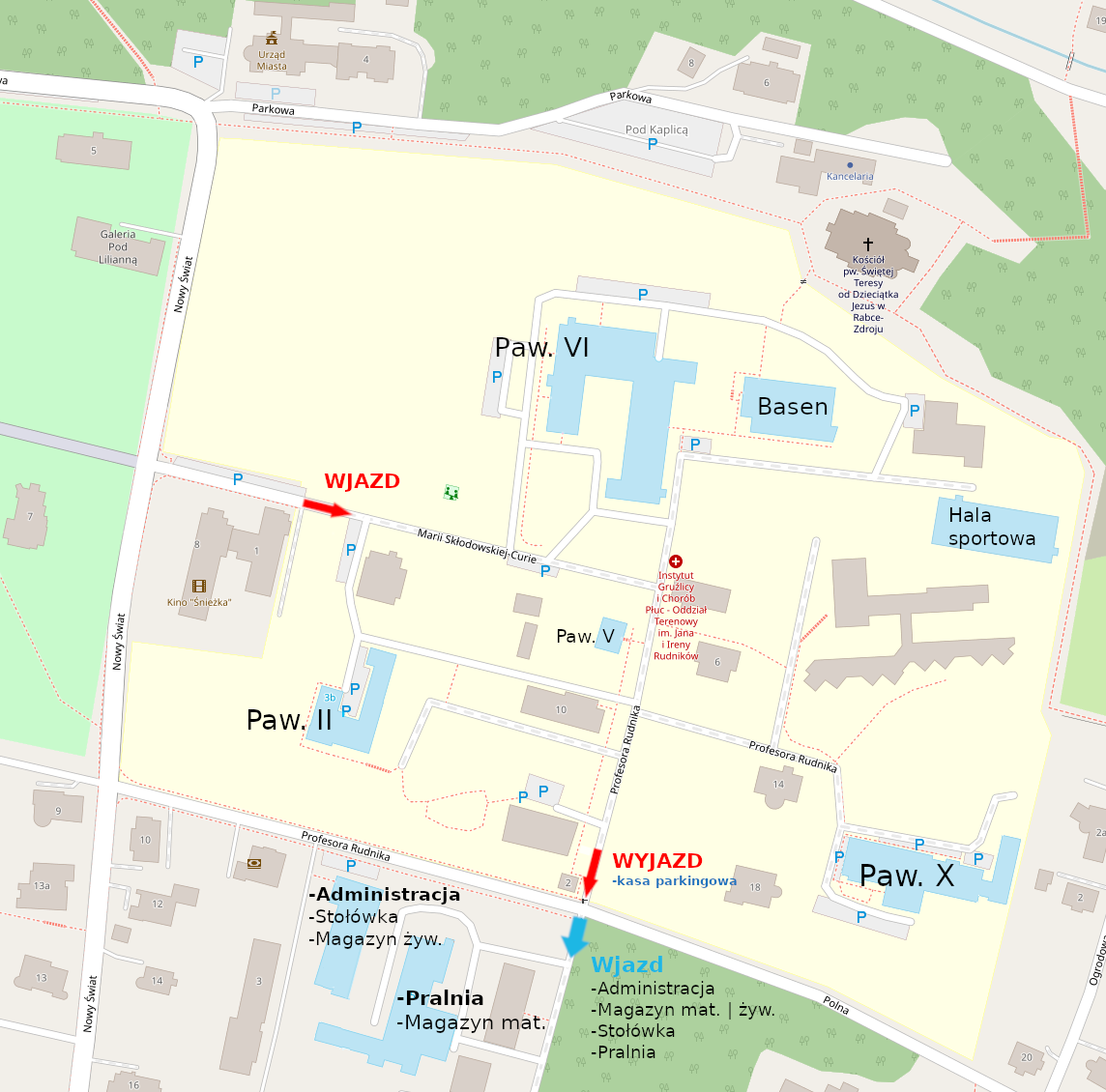 Plan sytuacyjny budynków Instytutu